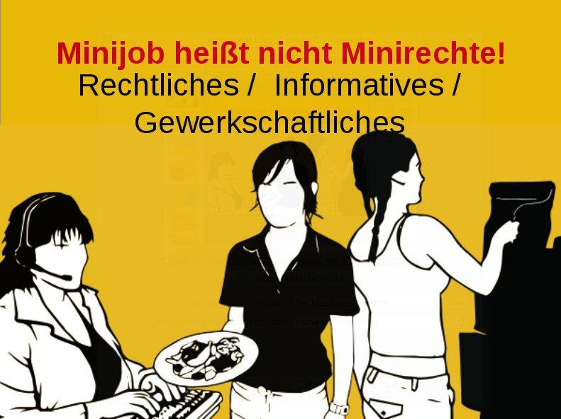 Minijob heißt nicht Minirechte